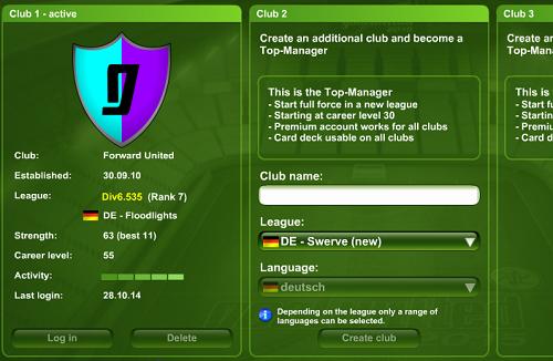Crea secondo club