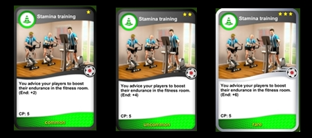 Endurance training cards