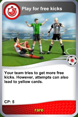 Free kick card