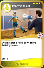 Improve talent ultra rare card