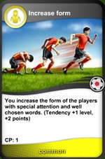 Increase form card