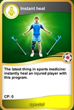 Instant heal card