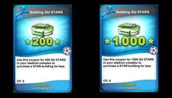Stars coupon cards