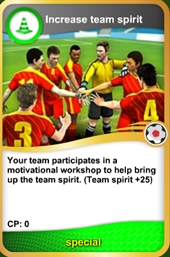 Team spirit card