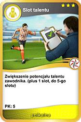 Widok karty dodającej slot talentu