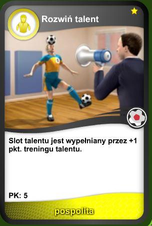 Karta Rozwiń talent - pospolita