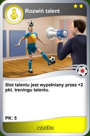 Karta Rozwiń talent - rzadka