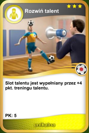 Karta Rozwiń talent - unikalna
