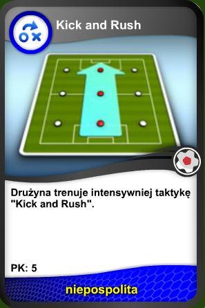 Trening taktyki Kick and rush
