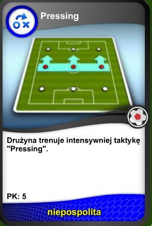 Trening taktyki Pressing