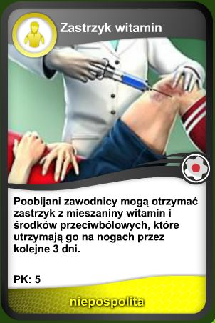 Karta Zastrzyk witamin